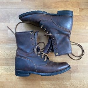 Justin leather combat boots